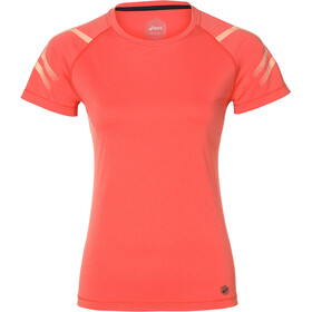 asics Icon SS Top Women Coralicious Heather